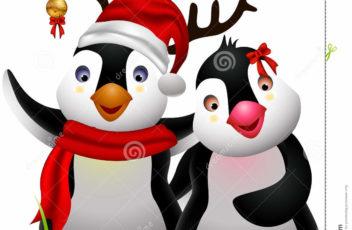 cute-penguin-christmas-cartoon-couple-love-27671287